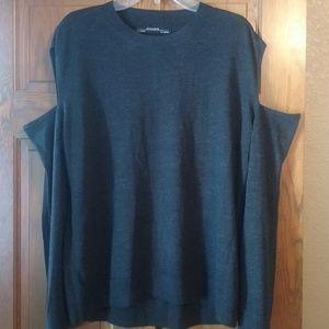 All Saints cold shoulder charcoal sweater L